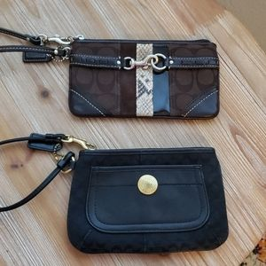 Coach Wristlets Black and Brown